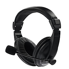 유선 스테레오 헤드셋 게임 헤드폰 이어폰 헤드폰 이어폰 (PC 휴대폰 용 마이크 포함)