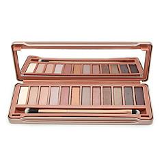 12 cores fosco vinco smoky suave maquiagem cores terrosas cosméticos sombra paleta com caixa de lata (modelo 3)