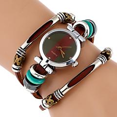 Damen Modeuhr Armband-Uhr Einzigartige kreative Uhr Armbanduhr Chinesisch Quartz Imitation Diamant Echtes Leder Band Vintage