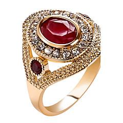 Női Vallomás gyűrűk Gyűrű Kristály Alap Egyedi Strassz Divat Régies (Vintage) Bohemia stílus Személyre szabott Euramerican Török luxus