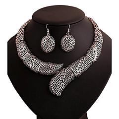 Women's Drop Earrings Statement Necklaces Geometric Fashion Personalized Ferroalloy Chrome Geometric For Date Club Street Wedding Gifts