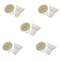10pcs 24SMD 5050 3W LED Spotlight GU10 250lm Warm White Cool White Decorative For Kitchen Hotel Art Lighting AC220-240V