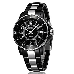 OHSEN Heren Sporthorloge Modieus horloge Horloge Hout Polshorloge Unieke creatieve horloge Vrijetijdshorloge Kwarts LED Legering Plastic