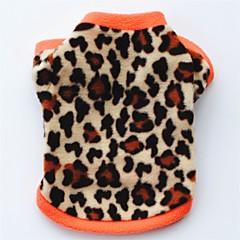 Γάτα Σκύλος Παλτά Φανέλα Πουλόβερ Ρούχα για σκύλους Πάρτι Καθημερινά Διατηρείτε Ζεστό Λεοπαρδαλί Μαύρο Λεοπαρδαλί