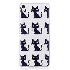 Etui til Sony Xperia m2 xa etui dække kat mønster malet høj penetration tpu materiale imd proces blødt case telefon etui til Sony xperia