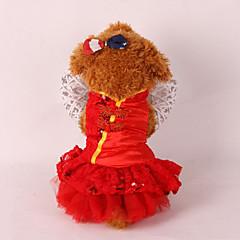Σκύλος Smoching Ρούχα για σκύλους Γάμος Πρωτοχρονιά Πούλιες Κόκκινο Ροζ
