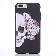 Case voor apple iphone 7 7 plus case cover skelet patroon scrub zwart dikker tpu materiaal zacht geval telefoon hoesje 6s 6 plus zie 5s 5