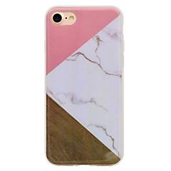 Na iPhone 8 iPhone 8 Plus Etui Pokrowce IMD Wzór Etui na tył Kılıf Tekstura drewna Marmur Miękkie Poliuretan termoplastyczny na Apple