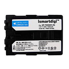 Ismartdigi fm500h 7.2v 1650mah μπαταρία φωτογραφικής μηχανής για sony dslr-a77 a100 a200 a350 a450 a550