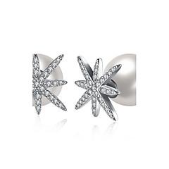 Women's Stud Earrings Imitation Pearl AAA Cubic ZirconiaBasic Unique Design Dangling Style Rhinestone Heart Natural Geometric Friendship