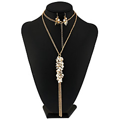 Women's Pearl Necklace Necklace/Earrings Bridal Jewelry Sets Unique Design Dangling Style Tassel Euramerican FashionImitation Pearl