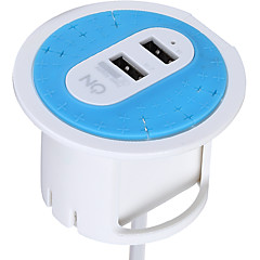 ON HOD1230B AU Plug Phone USB Charger Power Strips 180 cm Outlets 2 USB Ports 3.1A AC 100V-240V
