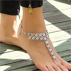 Kadın's Ayak bileziği/Bilezikler alaşım Moda Eski Tip Punk Tarzı Flower Shape Mücevher Uyumluluk Günlük