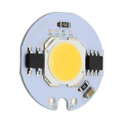 9w ronde cob led chip smart ic ac 220v voor diy plafond licht downlight spotlight warm / koud wit (1 stuk)