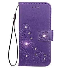 Hoesje voor Samsung Galaxy Note 5 note 4 wallet strass reliëfpatroon pu lederen hoesje voor Samsung Galaxy Note 3