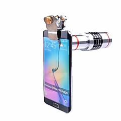 Universalclips 18x optische Teleskopobjektivkameraobjektive Teleaufnahmeobjektiv für iphone 7 5 6 s samsung Handystativ