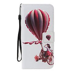 Για Apple iPhone 7 7 plus 6s 6 plus se 5s 5 κάλυψη περίπτωσης μπαλόνι κορίτσι πρότυπο pu υλικό ζωγραφισμένο σημείο τρυπάνι κάρτα πορτοφόλι