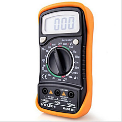 hyelec® mas830l dc / ac kannettava yleismittari nykyinen jännite vastuksen mittaus digitaalinen testaaja taustavalolla& kotelo suojaa