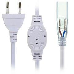 Hkv® us / eu stikkontakt med 2 stifter til 5630/5050 smd led strip light bar ac220-240v