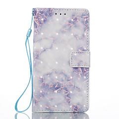 Til Sony xperia xa xperia e5 cover til dame blå mønster 3d malet kort stent tegnebog telefon sag