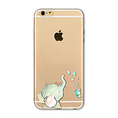 Etui til iphone 7 plus 7 cover gennemsigtigt mønster bagside cover elefant soft tpu til iphone 6s plus 6 plus 6s 6 se 5s 5c 5 4s 4
