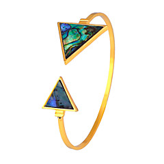 Women's Cuff Bracelet Jewelry Friendship Fashion Movie Jewelry Hypoallergenic Stainless steel Triangle Shape Jewelry ForBirthday