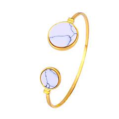 Women's Cuff Bracelet Jewelry Fashion Movie Jewelry Hypoallergenic Brass Gold Plated Stainless steel Alloy Circle Jewelry ForAnniversary