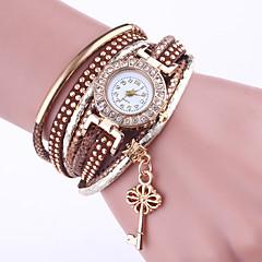 Dames Armbandhorloge Chinees Kwarts PU Band Elegante horloges Zwart Wit Blauw Rood Groen Kaki