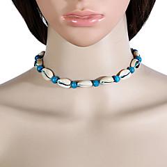 Colar de gargantilhas femininas jóias design cowry exclusivo para roupa ao ar livre diária