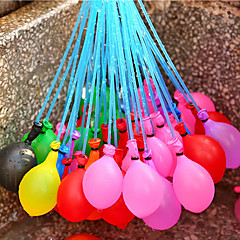 37 adet / set tek balon dolu sulama suyu içine enjeksiyon çocuklar için tatil plaj oyuncakları su balonları rasgele rastgele