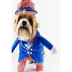 Perro Disfraces Ropa para Perro Fiesta Cosplay Rayas Verde Azul