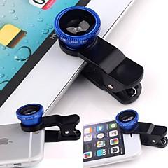 범용 3in1 클립 카메라 렌즈 키트에 광각 물고기 눈 매크로 스마트 전화에 대 한