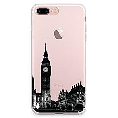 Käyttötarkoitus iPhone X iPhone 8 kotelot kuoret Läpinäkyvä Kuvio Takakuori Etui city View Pehmeä TPU varten Apple iPhone X iPhone 8