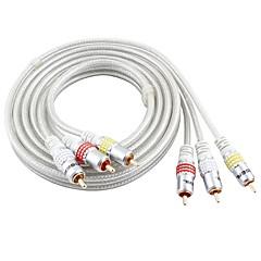 3RCA Kabel, 3RCA to 3RCA Kabel Mannelijk - Mannelijk Verguld koper 8.0m (26ft)