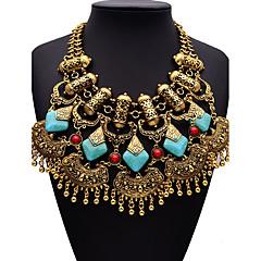Damskie Oświadczenie Naszyjniki sztuczna Diament Geometric Shape StopRęcznie wykonane Wyrazista biżuteria Elegancki Modny Bohemia Style