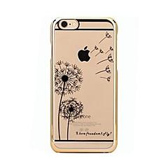 Obudowa dla iPhone 7 6 dandelion tpu miękka cienka tylna obudowa pokrowiec obudowa iphone 7 plus 6 6s plus se 5s 5 5c 4s 4