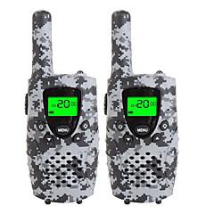 Ανθεκτικά φορητά ραδιόφωνα camo για παιδιά 22 καναλιών micro usb φόρτισης 3 μίλια (έως 5miles) frs / gmrs φορητές mini walkie talkies για