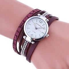 Damskie Modny Zegarek na bransoletce Unikalne Kreatywne Watch Sztuczny Diamant Zegarek Chiński Kwarcowy sztuczna Diament PU Pasmo Z