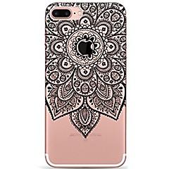 Na iPhone 7 iPhone 7 Plus Etui Pokrowce Ultra cienkie Przezroczyste Wzór Etui na tył Kılıf Mandala Koronka Printing Miękkie Poliuretan