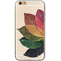 Käyttötarkoitus iPhone 7 iPhone 7 Plus kotelot kuoret Ultraohut Läpinäkyvä Kuvio Takakuori Etui Puu Pehmeä TPU varten Apple iPhone 7 Plus