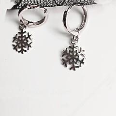 Dames Oorknopjes Clip oorbellen Sieraden Hypoallergeen Eenvoudige Stijl Sterling zilver Sneeuwvlok Sieraden Voor Dagelijks Causaal