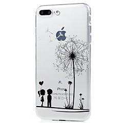 do obudowy obudowy ultra cienka obudowa tylna obudowa dandelion miękka tpu dla jabłka iphone x iphone 8 plus iphone 8 iphone 7 plus iphone