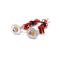 2 stuks 1w mini led downlight spotlight warm wit / koud wit dc12v