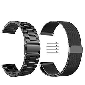 Cinturino per orologio per Gear Sport / Gear S2 Classic Samsung Galaxy Cinturino a maglia milanese Acciaio inossidabile Custodia con cinturino a strappo