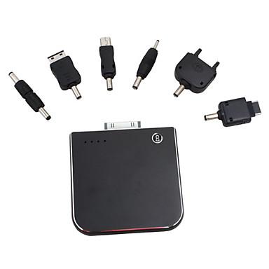 2000mAh recarregável de emergência bloco de poder da bateria para 2g/3g/ipod iphone / usb / telefones celulares (preto)