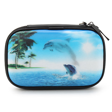 Protective 3D Dolphin Case with Stylus Pen for Nintendo DSI and NDSL (Blue)