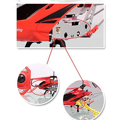 3.5-Channel RC Helicopter with Built-in Gyroscope (Red)
