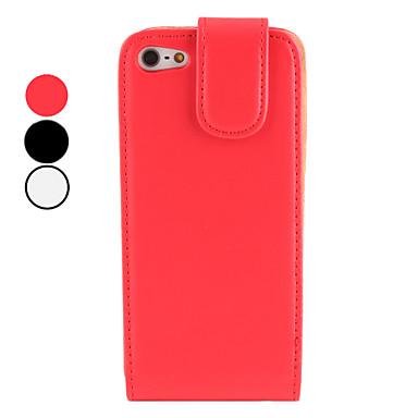 Pu funda de piel con espejo interior para el iphone 5 colores surtidos 445566 2017 - Funda de piel para iphone 5 ...