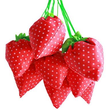 Strawberry Design Textile Shopping Bag(Random Color)
