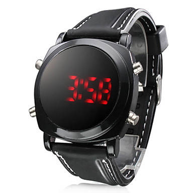 Men's Watch Sports Red LED Digital Silicone Strap Wrist Watch Cool Watch Unique Watch